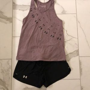 Under Armour racerback graphic tank top
